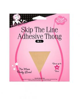 Skip The Line Adhesive Thong M-L