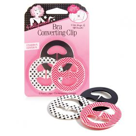 HFS, Bra Converting Clips, Fashion Edition, 3 Count